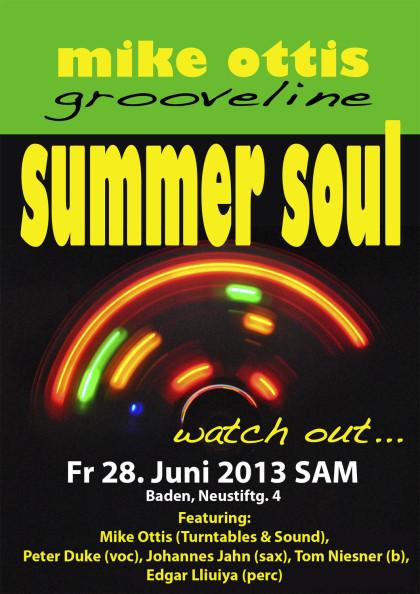 Grooveline in Baden, 28.Juni 2013